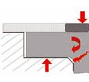Посторонние частицы под седлом буртика